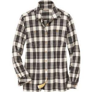 Duluth Trading Co Free Swingin' Flannel Shirt